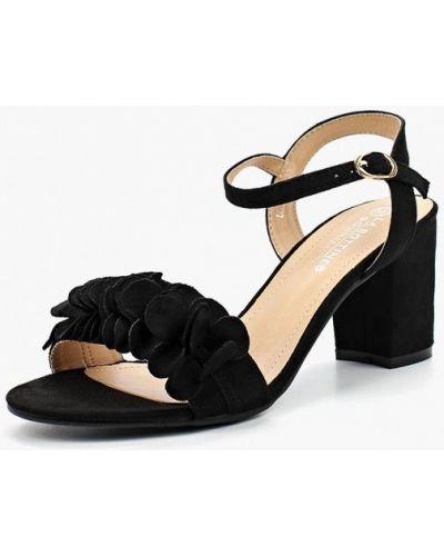 Босоножки на каблуке велюровые La Bottine Souriante