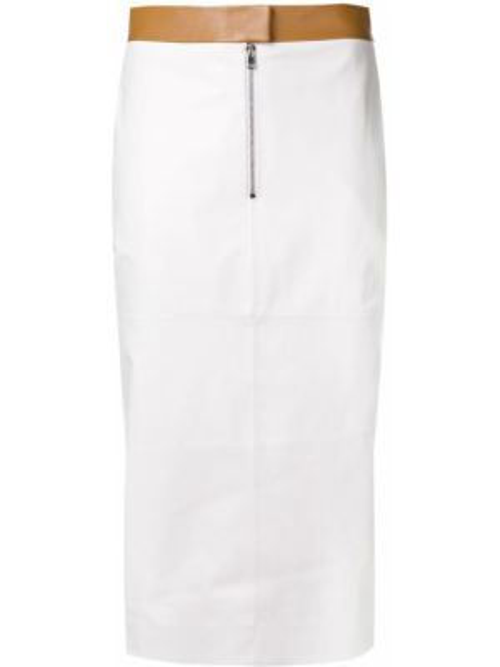 Юбка карандаш кожаная с карманами Victoria Beckham