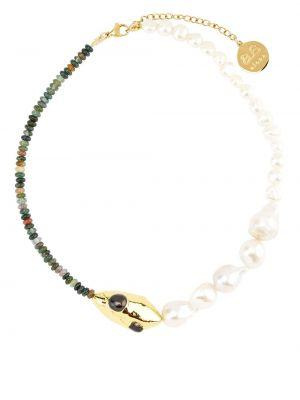 Złoty naszyjnik łańcuch - biały By Alona