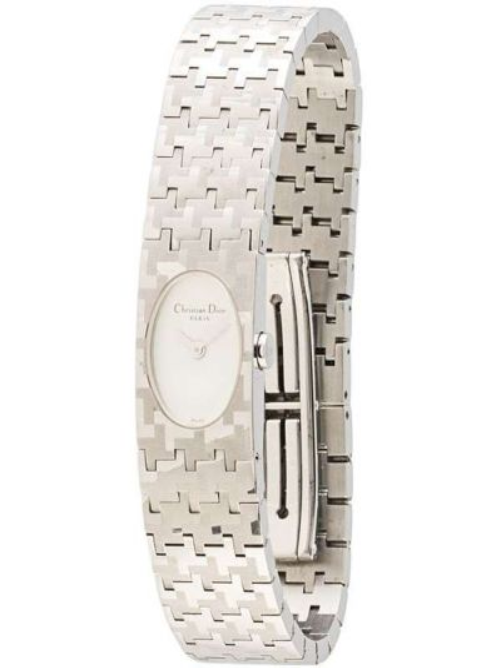 Puchaty srebro zegarek kwarcowy okrągły z kwarcem Christian Dior
