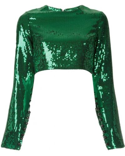 Блузка с длинным рукавом с пайетками зеленый Macgraw