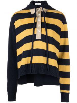 Czarna bluza z kapturem z długimi rękawami Monse