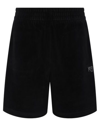 Черные хлопковые шорты Alexanderwang.t