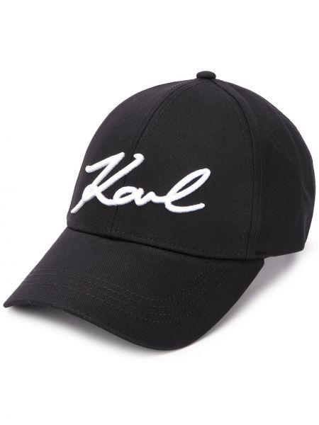 Кепка черная белая Karl Lagerfeld
