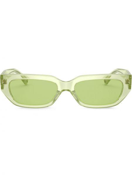 Солнцезащитные очки прямоугольные металлические хаки Valentino Eyewear