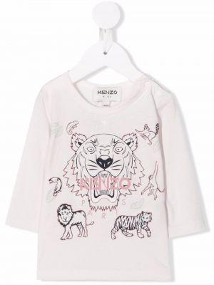 T-shirt z nadrukiem z printem - różowa Kenzo Kids