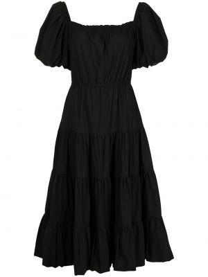 Хлопковое платье миди - черное Jason Wu
