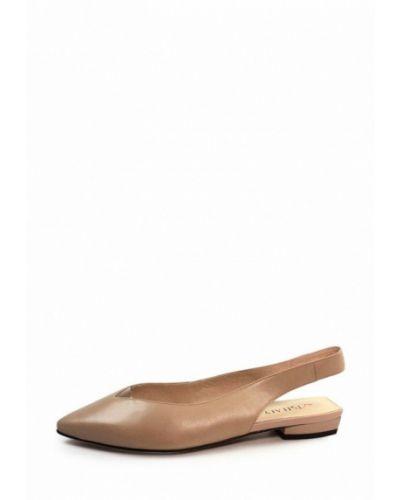 Кожаные туфли - бежевые Visttaly