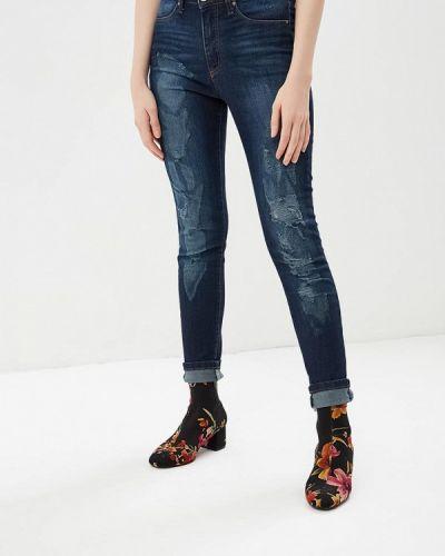 Синие джинсы рваные Gaudi