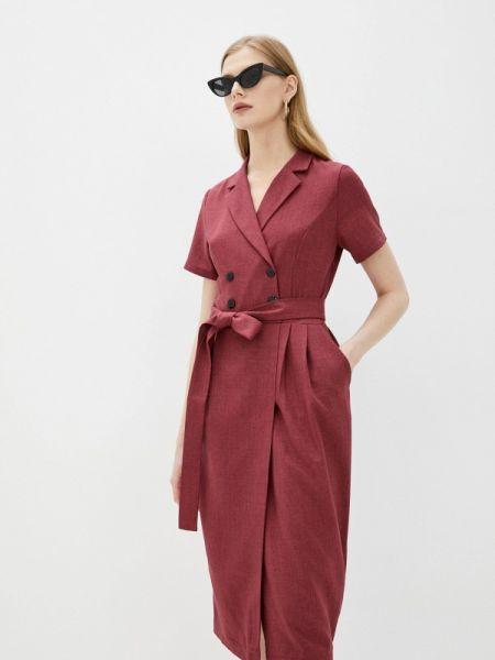 Повседневное платье бордовый красный Rosso-style
