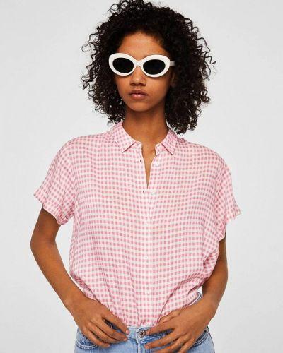Розовая рубашка с коротким рукавом Mango