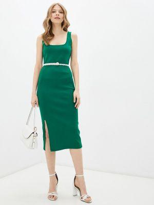 Зеленое платье-футляр Adl