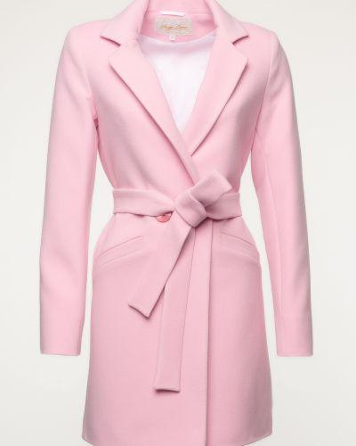 Шерстяное пальто - розовое Serge Leoni