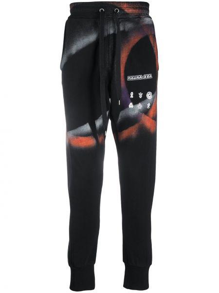 Спортивные черные спортивные брюки с поясом на шнурках Mauna Kea