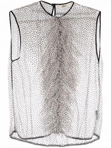 Блузка без рукавов - белая Odeeh