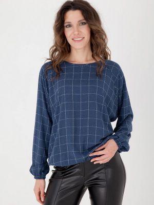 Блузка с длинными рукавами - синяя Gregory