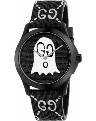 Городские черные модные часы водонепроницаемые Gucci