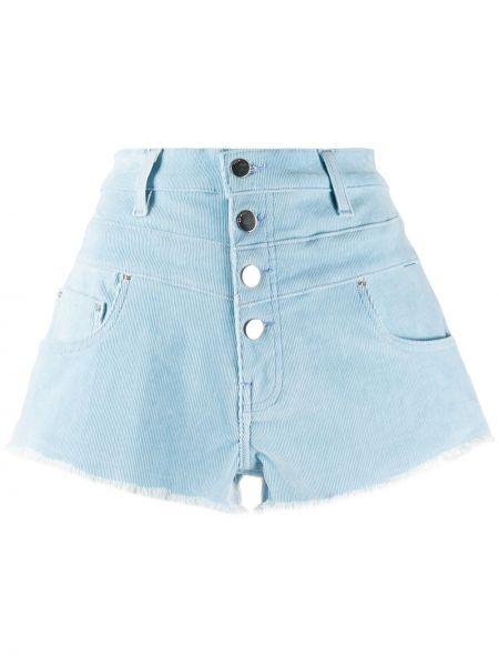 Синие хлопковые джинсовые шорты с карманами Amiri