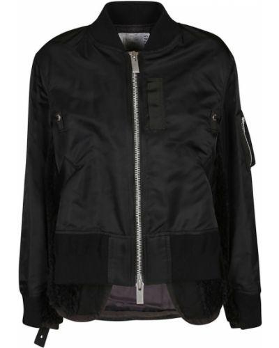 Czarny płaszcz Sacai