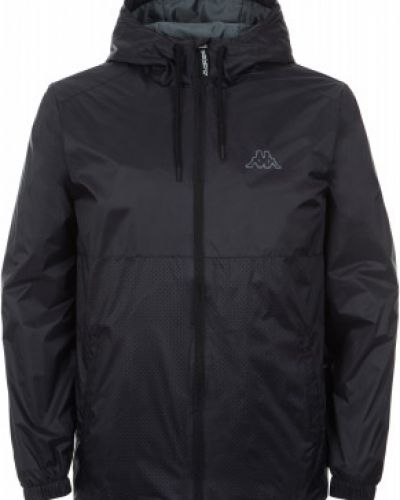Куртка с капюшоном черная спортивная Kappa