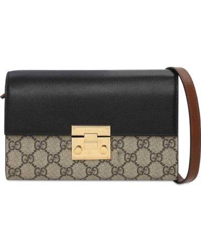 С ремешком кожаная маленькая сумка Gucci