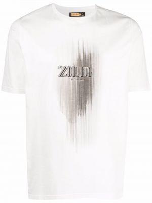 Лонгслив с принтом - белая Zilli