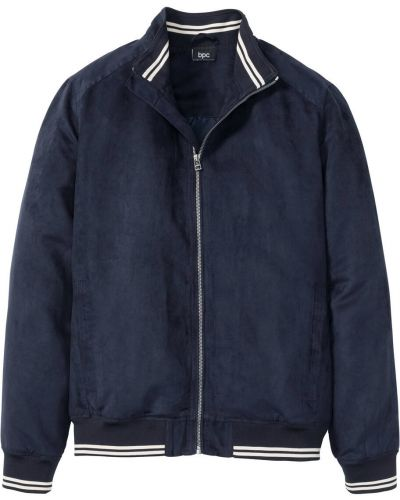 Куртка замшевая темно-синяя Bonprix