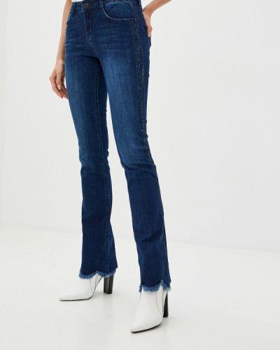 Синие расклешенные джинсы свободного кроя D'she