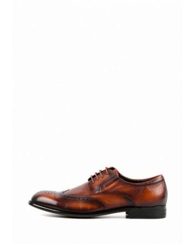 Кожаные коричневые туфли Leberdes