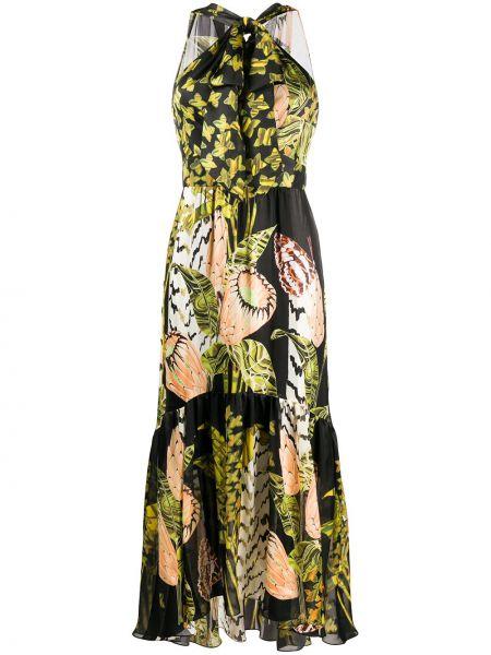 Платье шелковое бежевое Temperley London