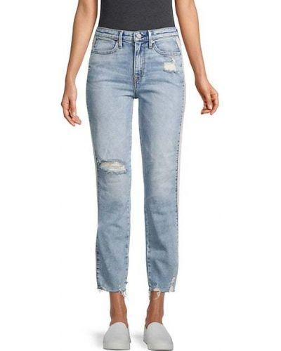 Прямые укороченные джинсы с карманами с заплатками True Religion