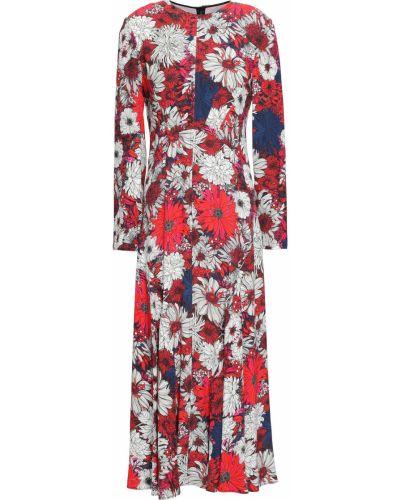 Sukienka midi z długimi rękawami z wiskozy z printem Cedric Charlier