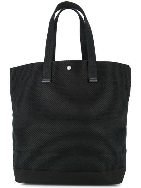 Черная сумка шоппер круглая с камнями Cabas