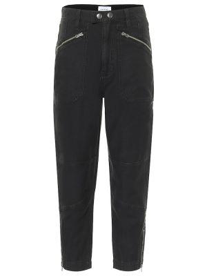 Прямые ватные хлопковые черные прямые джинсы Frame