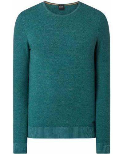 Sweter bawełniany - turkusowy Boss Casualwear