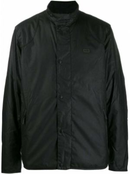 Długa kurtka pikowana czarna Barbour