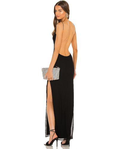 Черное платье с открытой спиной Michael Costello