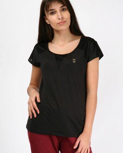 Футбольная черная спортивная футболка Hummel