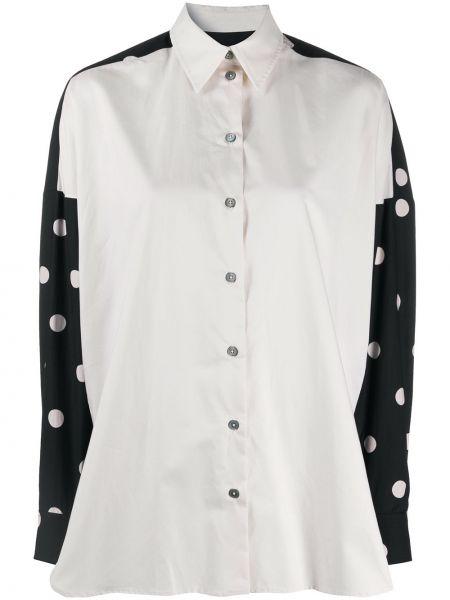 Шелковая белая рубашка с воротником Paul Smith