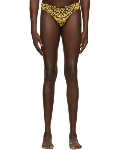 Nylon czarny figi rozciągać Versace Underwear