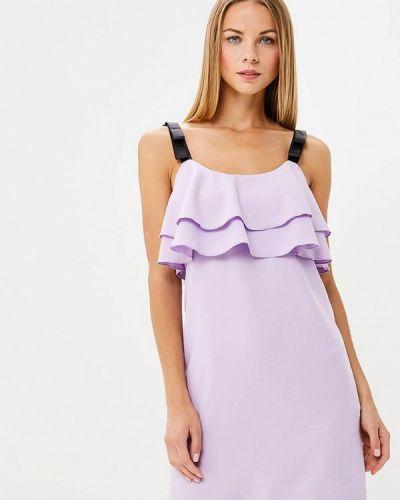 Платье весеннее фиолетовый Gepur