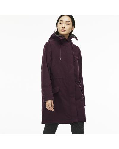 Куртка с капюшоном хлопковая шерстяная Lacoste