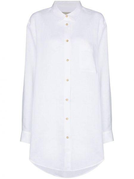 Белая рубашка с длинными рукавами с воротником Asceno