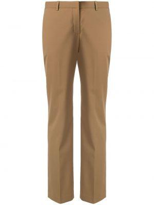 Шерстяные брюки - коричневые Theory