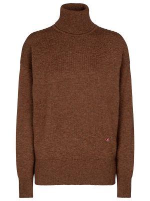 Коричневый кашемировый свитер Victoria Beckham