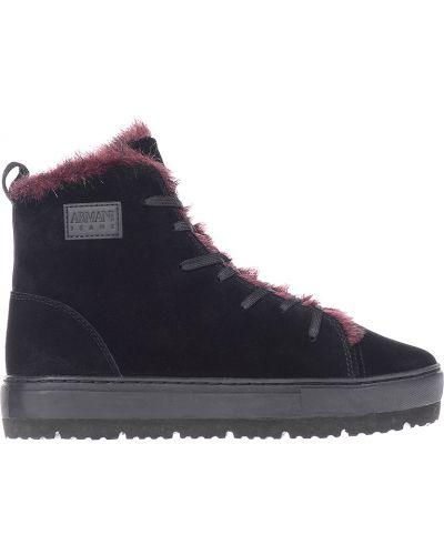 Ботинки осенние замшевые Armani Jeans