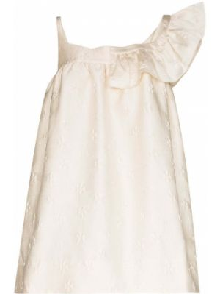 Czarna sukienka mini asymetryczna z nylonu Shushu/tong
