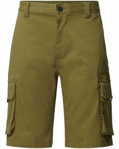 Zielone bermudy bawełniane na rzepy Tommy Jeans