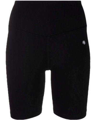 Черные шорты с завышенной талией Anine Bing