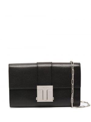 Кожаная черная сумка на плечо прямоугольная Tom Ford